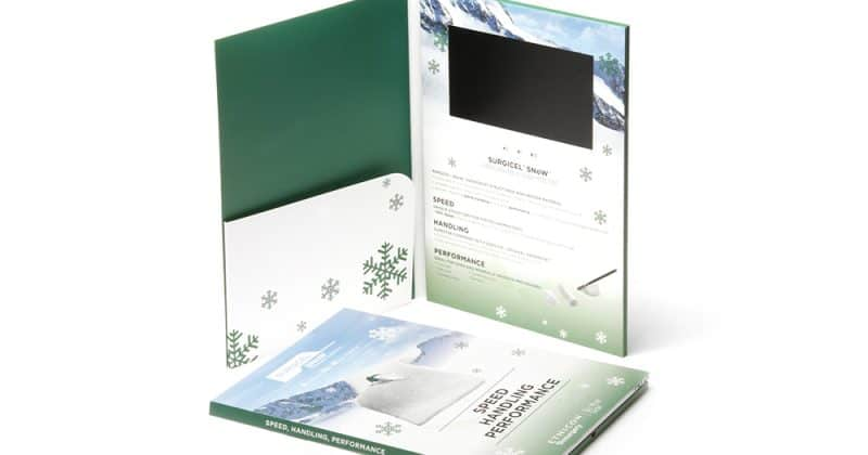 A4 Video Brochure with Inside Pocket