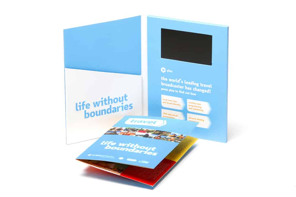 Video Brochure with Inside Pocket