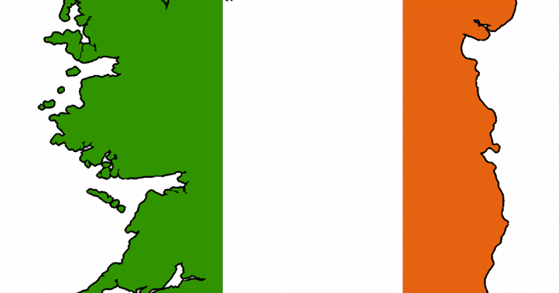 A flag and country image of Ireland