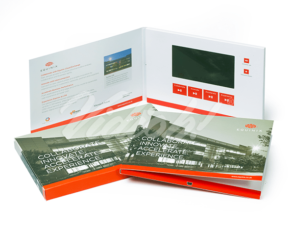 5.0 HD A5 Landscape Softback Video Brochure & Softback Box - Equinix