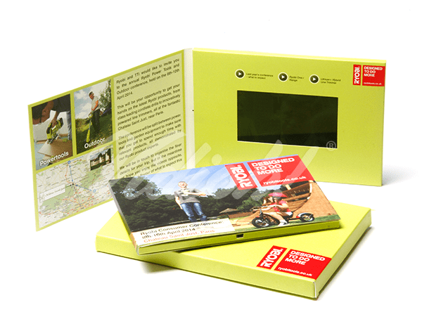 5.0 HD A5 Landscape Softback Video Brochure & Softback Box - Ryobitools