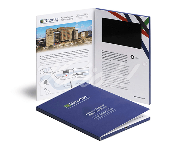5.0 HD A5 Portait Softback Video Brochure - Rhodar