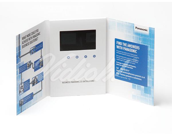 5.0 HD A5 Portrait Gatefold Softback Video Brochure - Panasonic