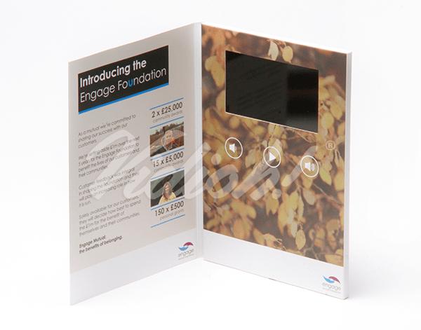 5.0 HD A5 Portrait Softback Video Brochure - Engage Mutual