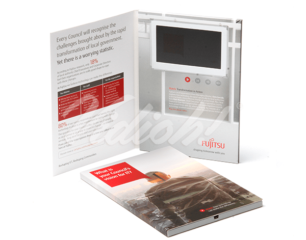 5.0 HD A5 Portrait Softback Video Brochure - Fujitsu