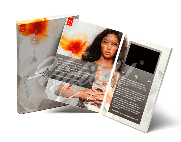 5.0 HD A5 Portrait Softback Video Brochure & Softback Box - Adobe 2