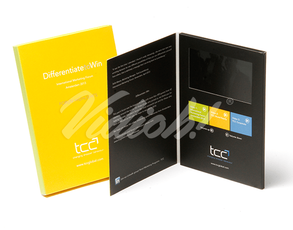 5.0 HD A5 Portrait Softback Video Brochure - TCC