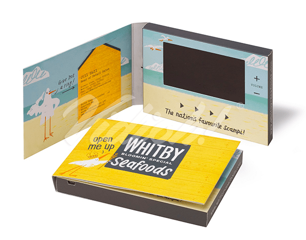 4 inch softback video brochure