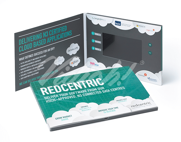 This 5 inch video book was produced for RedCentric