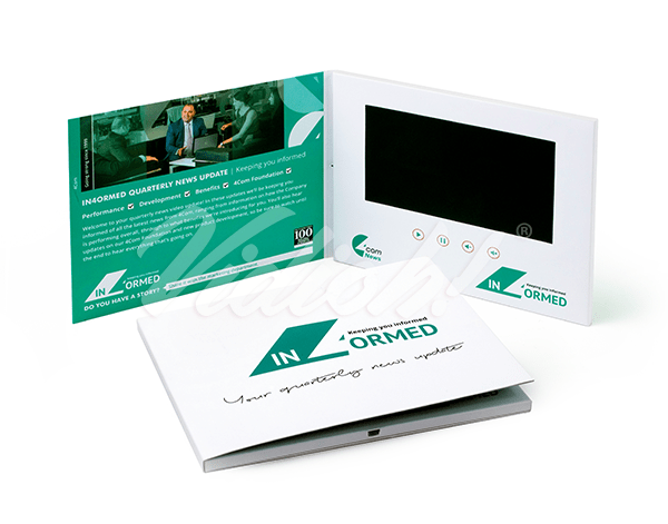 7.0 HD 210x170mm Softback Video Brochure - 4Com