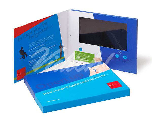 7.0 HD 210x170mm Softback Video Brochure & Softback Box - BluQube Symmetry