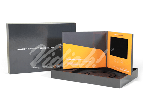 7.0 HD 210x170mm Softback Video Brochure with Pocket & Hardback Box - Thomson Reuters