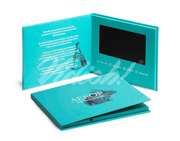 video mailer card that has personalised names on the front of it to help create a better response with customers and prospects. Generally this style of video card is used within direct mail marketing or account based marketing campaigns.