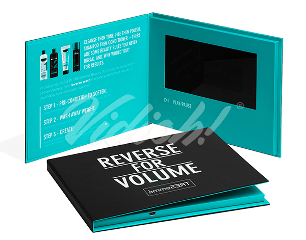 7.0 HD 215.5x180mm Hardback Video Book - Sarah Humphries Agency - TRESemme
