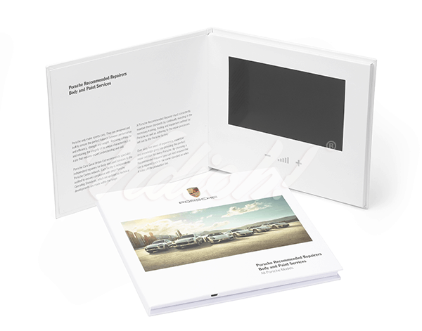 7.0 HD 215x180mm Hardback Video Book - Porsche