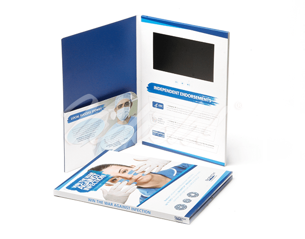 7.0 HD A4 Portrait Softback Video Brochure with Pocket - BioPatch