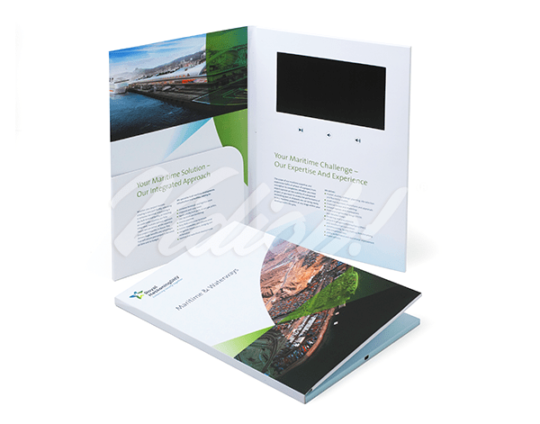 7.0 HD A4 Portrait Softback Video Brochure with Pocket - Royal Haskoning DHV