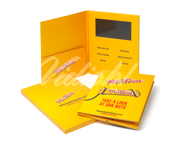 "7.0"" A4 Portrait Video Brochure with Pocket & Softback Box"