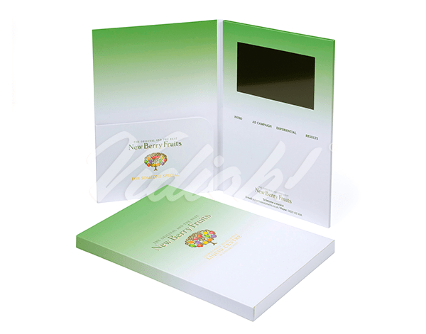 7.0 HD A4 Portrait Softback Video Brochure with Pocket & Softback Box - S3 Advertising