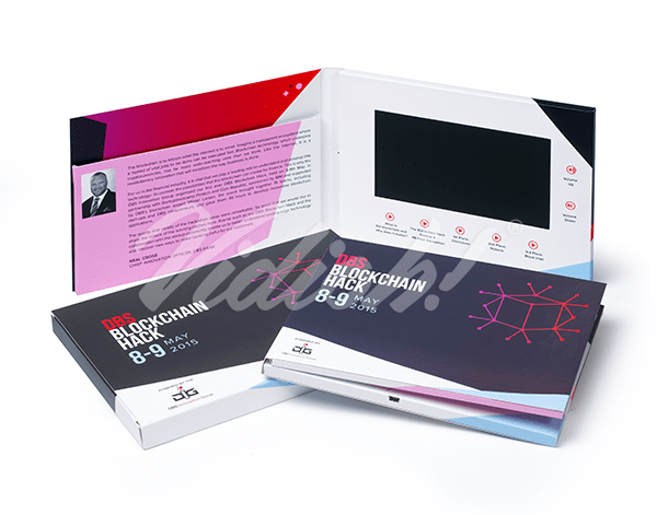 7 inch softback video brochure card