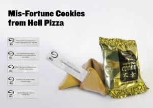 Mis-Fortune Cookies from Hell Pizza