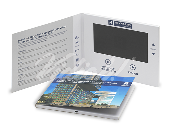 7.0 inch video brochure