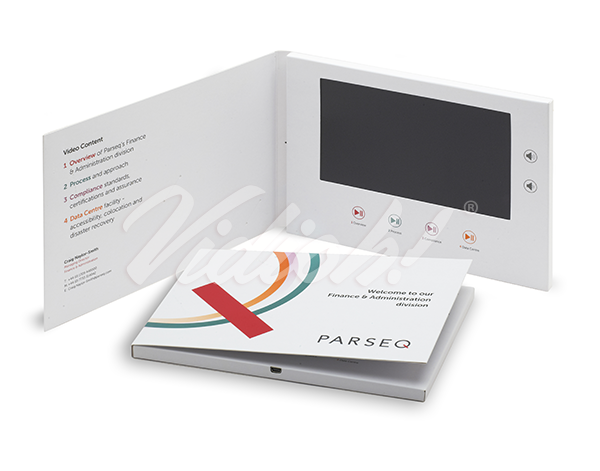 A5 video brochure