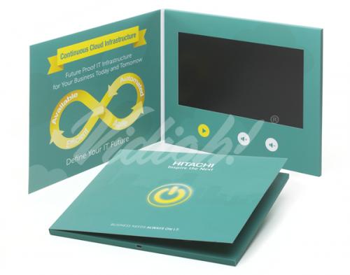 10 HD A4 Landscape Softback Video Brochure - Hitachi